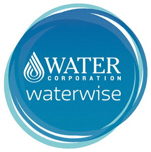 Waterwise Logo - blue circle with a white water droplet