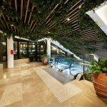 Westfield Carousel hanging plants above escalators