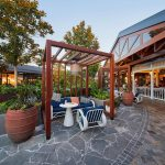Westfield Carousel outdoor seating area with wooden frames