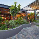 Westfield Carousel path winding through roof garden