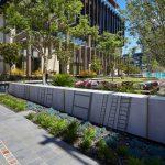 Westin hotel wall and garden