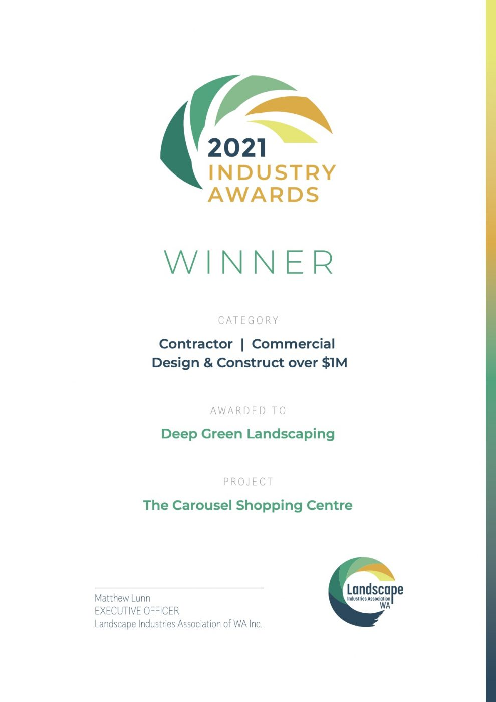2021 Industry Award Winner for Landscape of the year